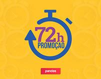Campanha 72 horas | Pandas.com.br