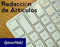 Redacción de artículos - optimapadel.es