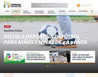 Diseño Web Responsive Portal de Deportes de Municipio