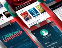 Biblioteca UNIMEP ‧ UI/UX Design