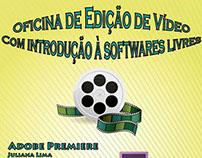 Cartaz Oficina de edição de vídeo
