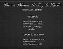 Design de convites de formatura