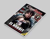 Portada y Pagina central con abridora de una revista