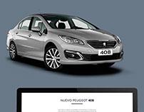 Peugeot 408 Diseño nuevo website