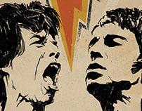 Mick Jagger and Noel Gallagher - Cartaz Studio Bar