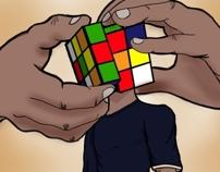 Rubik Cube Head