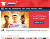 Site IPEM Treinamentos para concursos militares