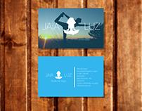 Projeto Logo e Cartões para Studio de Yoga JAYA LUZ