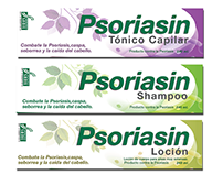 "Label Design for ""Psoriasin cosmetic products"""