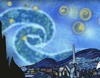 Van Gogh motion art