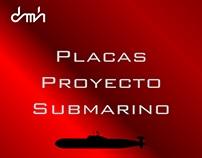 Placas de identificación de equipos Proyecto Submarinos