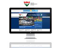Layout de site para a Federação de Futebol do RN
