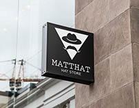 Novo nome e logo para a loja Matthew's Hats.