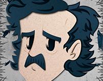 Allan Poe Paper Craft (effect)