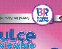 Aviso promocional para Baskin Robbins