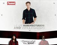 Flannel Clothing Web Design