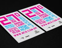 Poster para o prêmio Design do Museu da Casa Brasileira