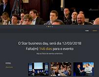 Site de divulgação de evento corporativo.