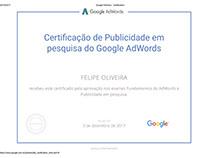 Certificado - Publicidade e Pesquisa do Google Adwords
