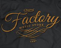 T-shirt Design / Factory Music Store (2014)