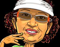 Caricatura Marlete Santos