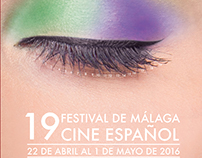 Cartel para el festival de Malaga España