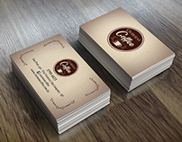 Mockup Business Card Overseas Coffee