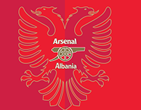 Arsenal supporters in Albania.
