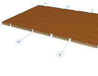 Projeto e Detalhamento de estruturas de madeira.