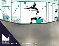Fachada de Estúdio de Pilates, Fisioterapia e RPG.