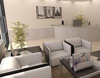 3D de Oficinas para galpones Industriales