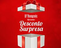 Redação - Campanha de Natal para a loja D'Homenic