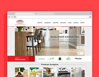 Site institucional para empresa de pisos laminados