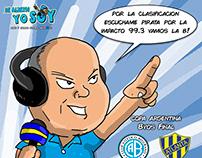 Radio Impacto Caricatura Hugo Oviedo