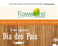 Flowerland - Banner e E-mail Marketing