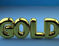 Golden type C4D