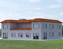 Full construction of social center building