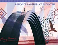 Nuevo sitema de billetes argentinos. Diseño 3. FADU