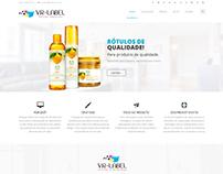 Website Institucional VRLabel Rótulos Adesivos