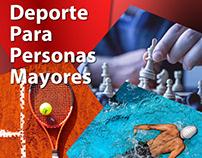 Flyer de promoción de taller de deportes