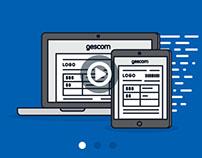 Gescom Landing Page