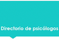 Presentación de directorio de psicólogos