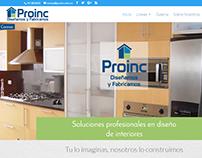 Pagina web Proinc