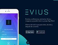 Landing page App EVIUS