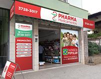 PHARMA MEDICAMENTOS - Logotipo, placa, adesivo, cartão