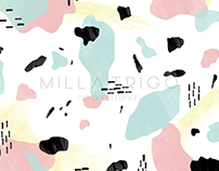 Abstract Cow Pattern