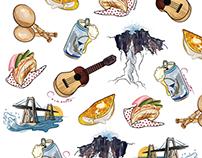 Venezuelan Food Doodles (Background)