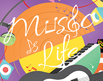 Music is LIfe - Illustration