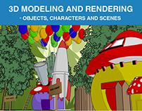 3D - Objetos, Personagens e Cenários