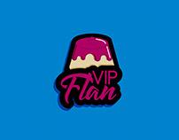 VIP Flan logo design